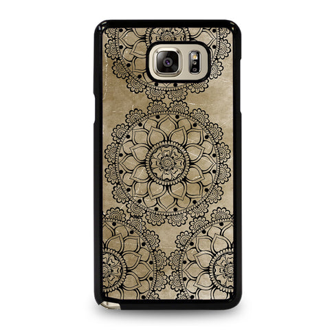 HENNA MANDALA DESIGN Samsung Galaxy Note 5 Case