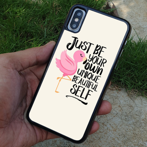 JUST BE YOUR OWN UNIQUE QUOTE iPhone Case