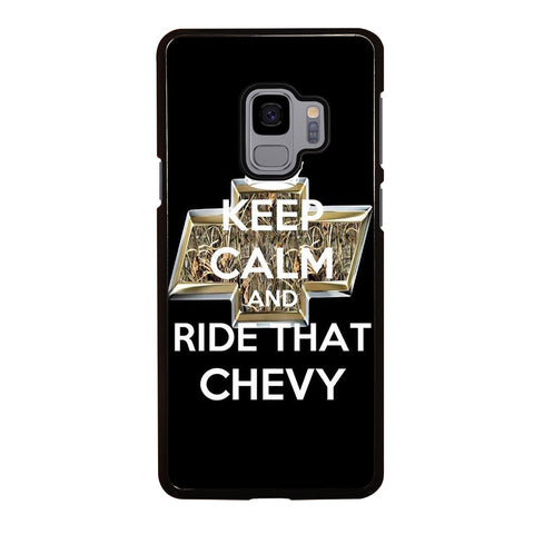KEEP CALM AND RIDE THAT CHEVY Samsung Galaxy S9 Case