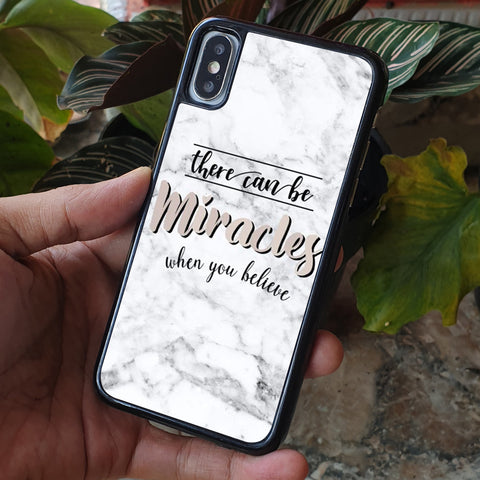 MIRACLES WHEN YOU BELIEVE QUOTE iPhone Case