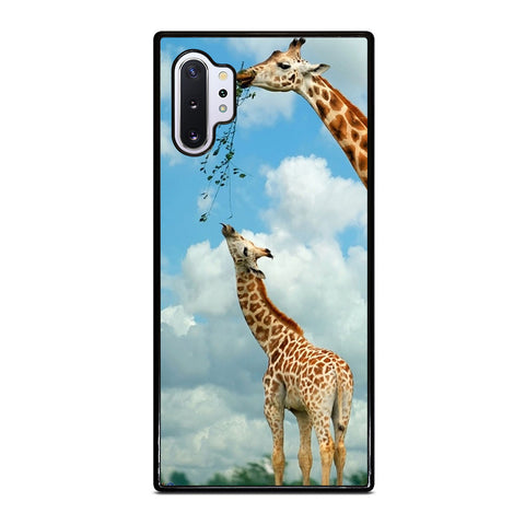 MOM AND BABY GIRAFFE EAT Samsung Galaxy Note 10 Plus Case Cover