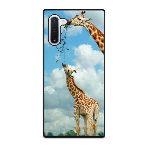 MOM AND BABY GIRAFFE EAT Samsung Galaxy Note 10 Case