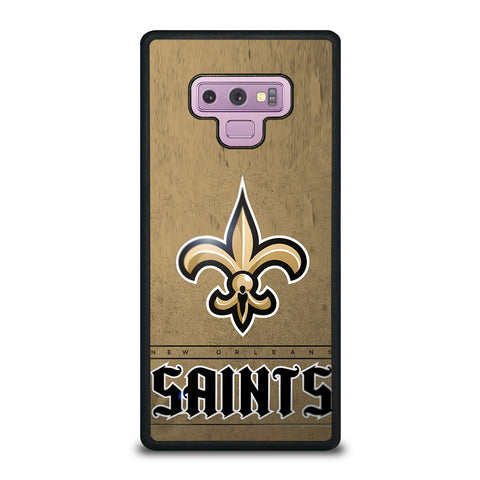 NEW ORLEANS SAINTS LOGO AND BACKGROUND Samsung Galaxy Note 9 Case