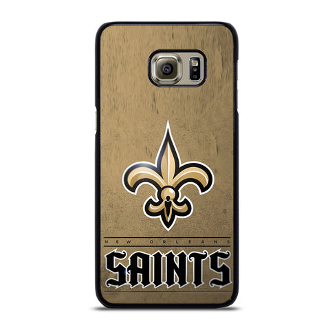 NEW ORLEANS SAINTS LOGO AND BACKGROUND Samsung Galaxy S6 Edge Plus Case