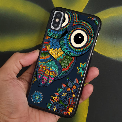 OWL TRIBAL PATTERN iPhone Case