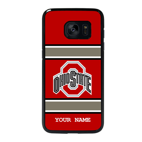 Ohio State Buckeyes Custom Your Name Samsung Galaxy S7 Edge Case