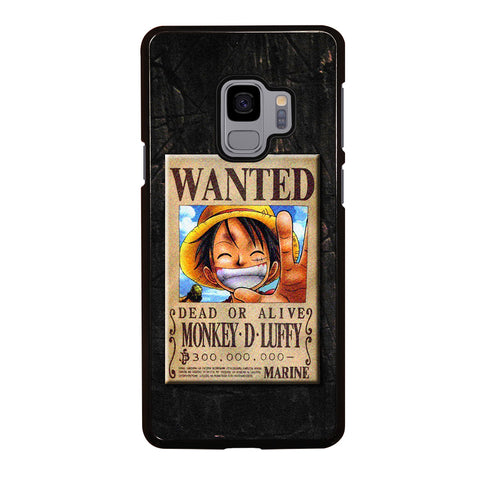 One Piece Luffy Wanted Samsung Galaxy S9 Case