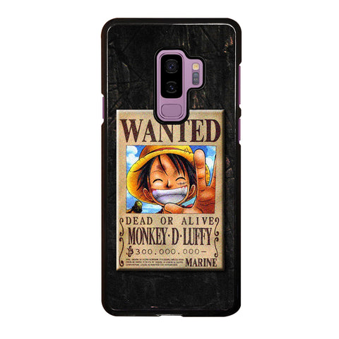 One Piece Luffy Wanted Samsung Galaxy S9 Plus Case