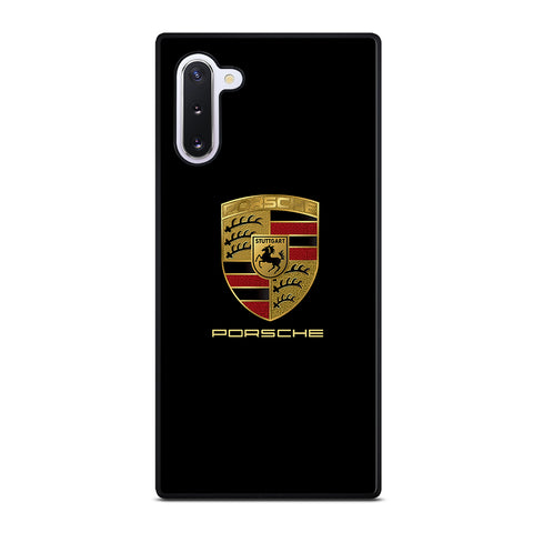 Porsche In Black Logo Samsung Galaxy Note 10 Case
