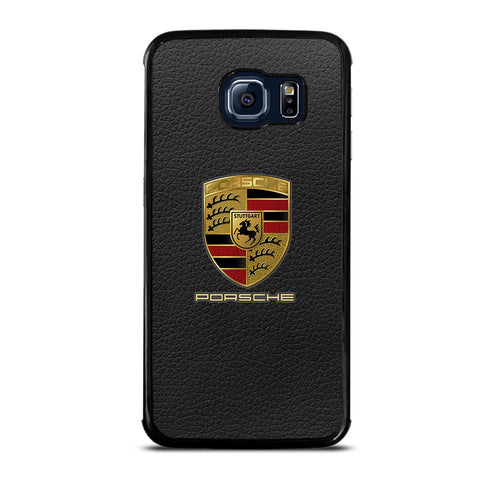 Porsche Leather Logo Samsung Galaxy S6 Edge Case