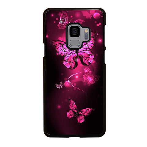 Purple Butterfly Pink Samsung Galaxy S9 Case