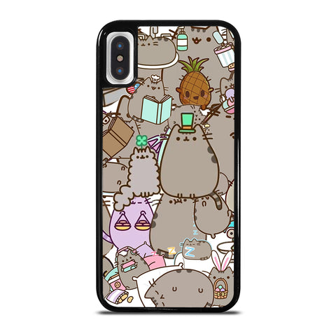 Pusheen Cartoon Collage iPhone X / XS Case