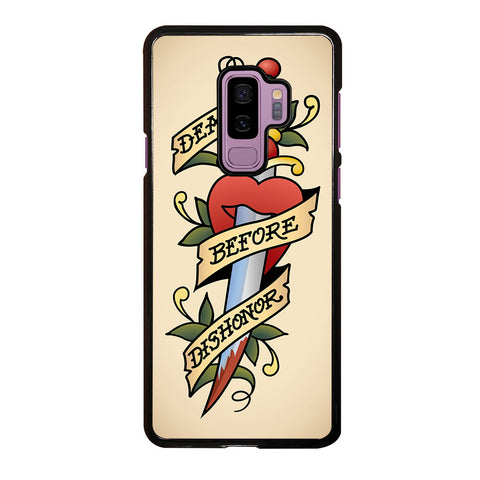 SAILOR JERRY DEATH BEFORE DISHONOR Samsung Galaxy S9 Plus Case