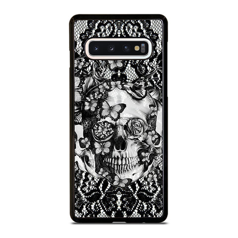 Skull Butterfly Lace Samsung Galaxy S10 Case