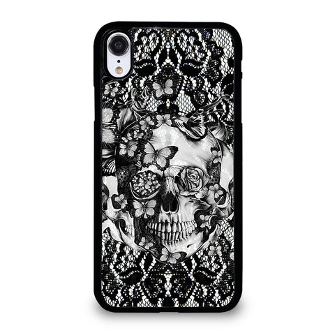 Skull Butterfly Lace iPhone XR Case