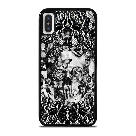 Skull Butterfly Lace iPhone X / XS Case