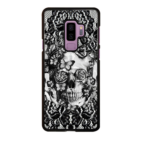 Skull Butterfly Lace Samsung Galaxy S9 Plus Case