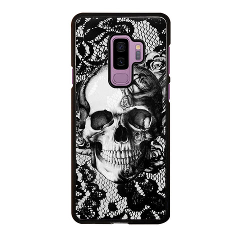 Skull On Black Lace Samsung Galaxy S9 Plus Case