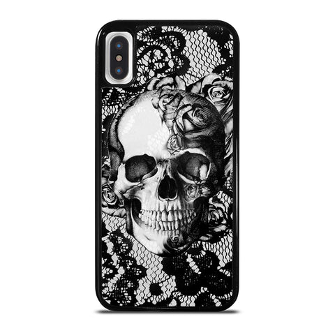 Skull On Black Lace iPhone X / XS Case