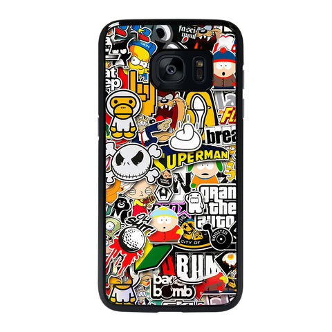 Sticker Bomb Collage Samsung Galaxy S7 Edge Case