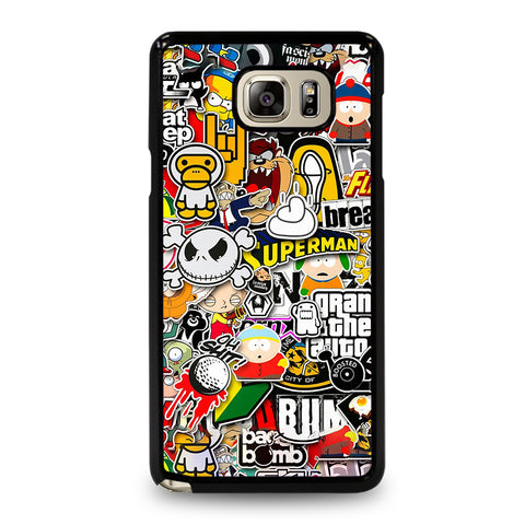 Sticker Bomb Collage Samsung Galaxy Note 5 Case