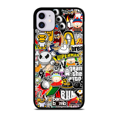 Sticker Bomb Collage iPhone 11 Case