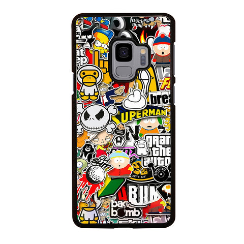 Sticker Bomb Collage Samsung Galaxy S9 Case