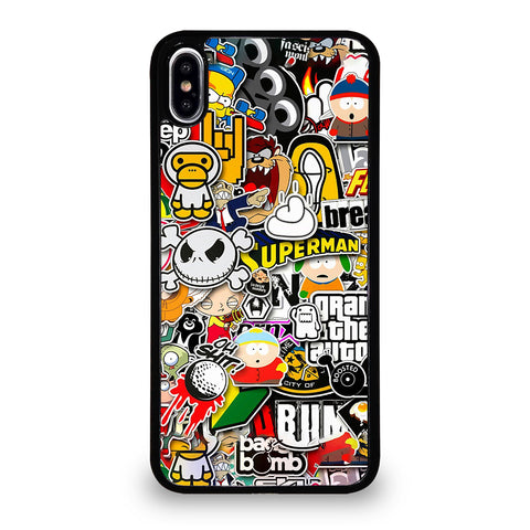 Sticker Bomb Collage iPhone XS Max Case