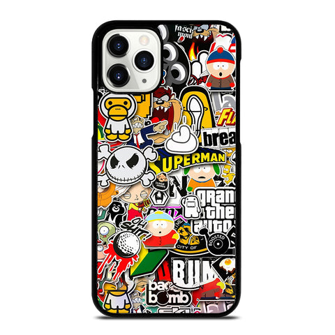 Sticker Bomb Collage iPhone 11 Pro Case