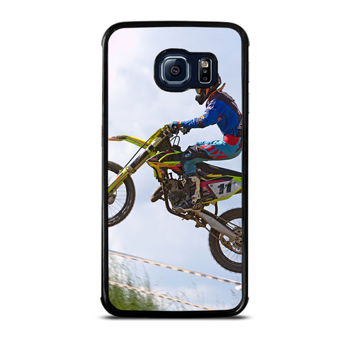 Stunt In Motocross Dirt Bike Samsung Galaxy S6 Edge Case