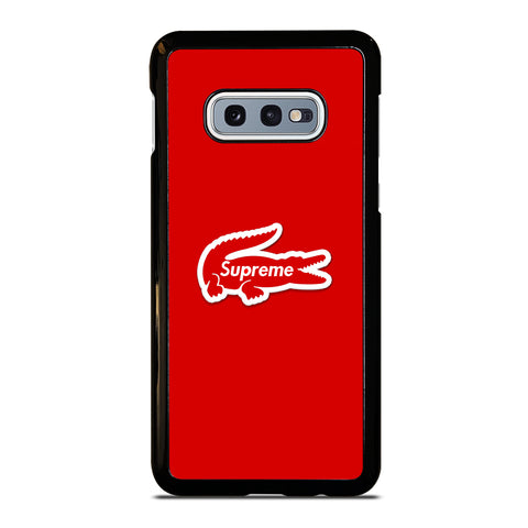 Supreme Red Wallpaper Samsung Galaxy S10e Case