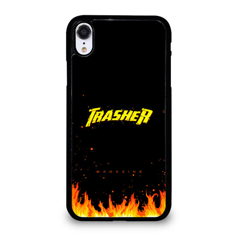 Trasher Smoldering Font iPhone XR Case