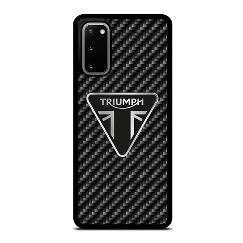Triumph Motorcycle Carbon Logo Samsung Galaxy S20 / S20 5G Case