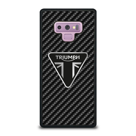 Triumph Motorcycle Carbon Logo Samsung Galaxy Note 9 Case