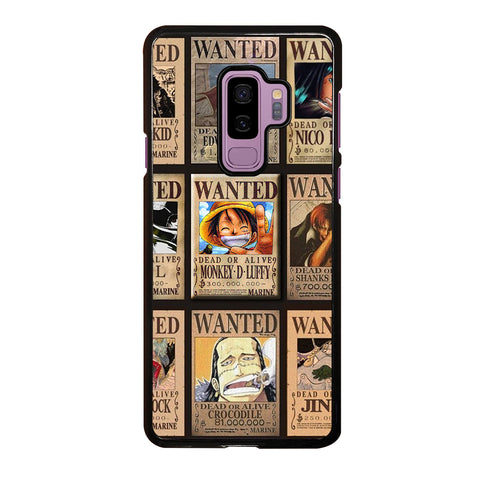 Wanted One Piece Luffy Samsung Galaxy S9 Plus Case