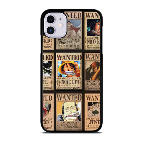 Wanted One Piece Luffy iPhone 11 Case