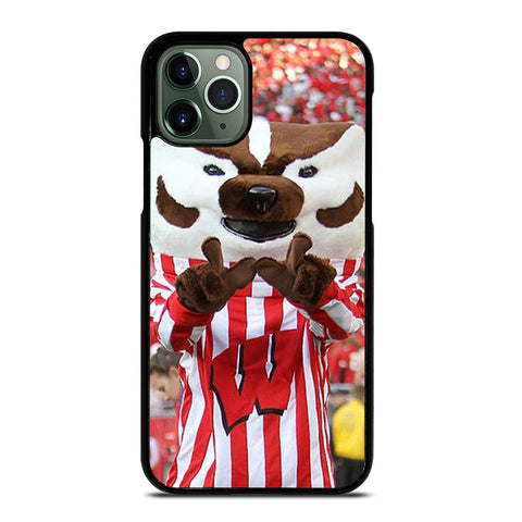 Wisconsin Mascot Image iPhone 11 Pro Max Case