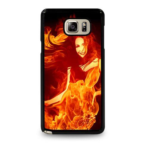Woman In Fire Samsung Galaxy Note 5 Case