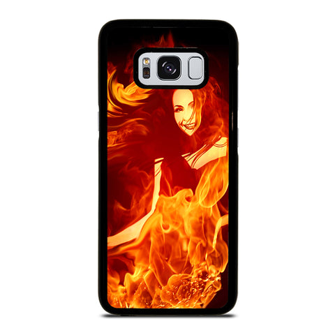 Woman In Fire Samsung Galaxy S8 Case