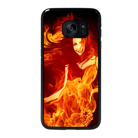 Woman In Fire Samsung Galaxy S7 Edge Case