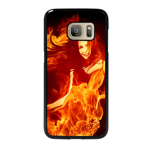 Woman In Fire Samsung Galaxy S7 Case