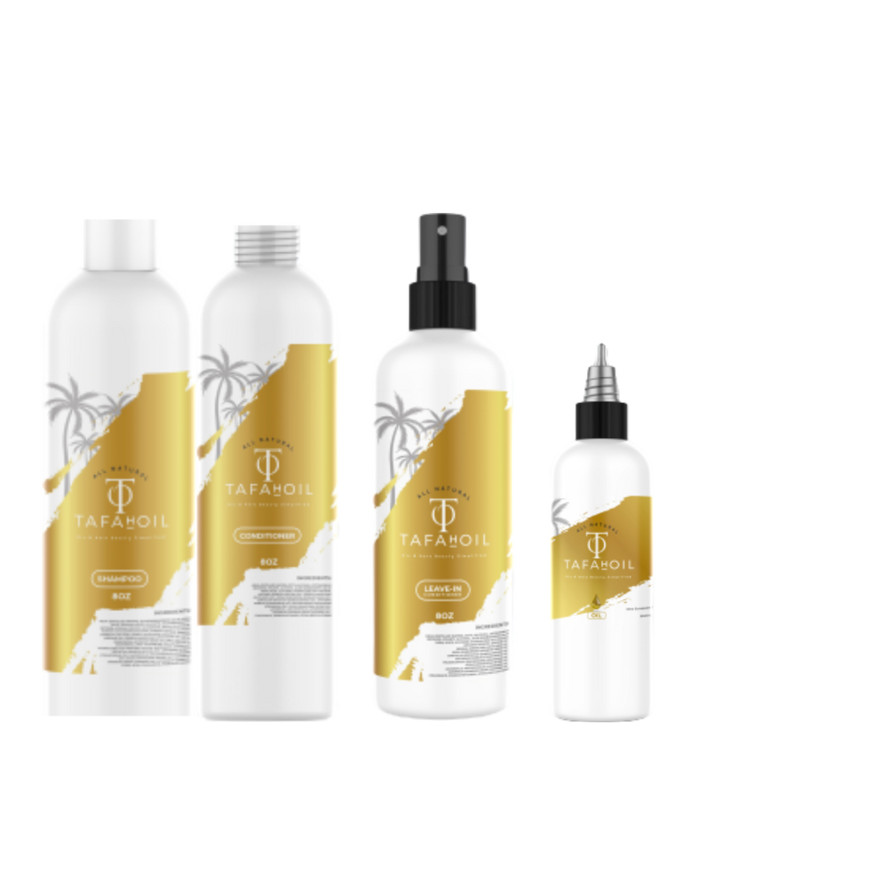 Shampoo, Conditioner, Leave-in Con & Oil Bundle