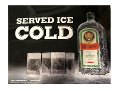 Metal Tin Décor Sign - 'Served Ice Cold""