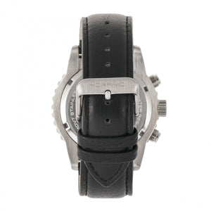 Morphic M67 Series Chronograph Leather-Band Watch w/Date - Silver/Black - MPH6701