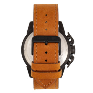 Morphic M81 Series Chronograph Leather-Band Watch w/Date - Camel/Black  - MPH8106