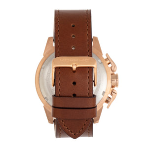 Morphic M81 Series Chronograph Leather-Band Watch w/Date - Brown/Rose Gold  - MPH8104