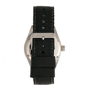 Morphic M69 Series Canvas-Band Watch - Silver/Black - MPH6902