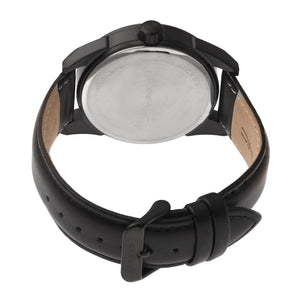 Morphic M63 Series Leather-Band Watch w/Date - Black - MPH6309