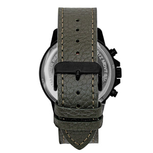 Morphic M86 Series Chronograph Leather-Band Watch - Black/Olive - MPH8606