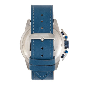 Morphic M81 Series Chronograph Leather-Band Watch w/Date - Blue/Silver  - MPH8102